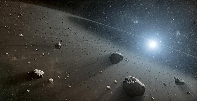 El cinturón de asteroides del Sistema Solar
